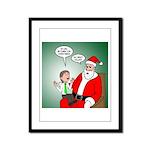 Santa and Bitcoins Framed Panel Print