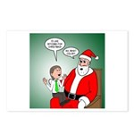 Santa and Bitcoins Postcards (Package of 8)