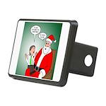 Santa and Bitcoins Rectangular Hitch Cover