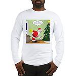 Santa and Stretching Long Sleeve T-Shirt