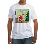 Santa and Stretching Fitted T-Shirt