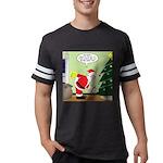 Santa and Stretching Mens Football Shirt
