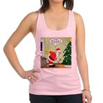 Santa and Stretching Racerback Tank Top