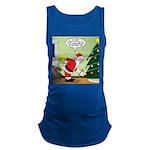 Santa and Stretching Maternity Tank Top