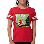 Santa and Stretching Womens Football Shirt