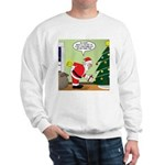 Santa and Stretching Sweatshirt