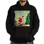 Santa and Stretching Hoodie (dark)