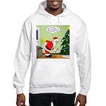 Santa and Stretching Hooded Sweatshirt