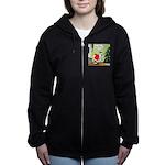 Santa and Stretching Women's Zip Hoodie
