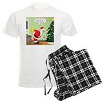 Santa and Stretching Men's Light Pajamas