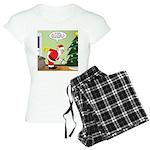 Santa and Stretching Women's Light Pajamas