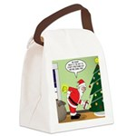 Santa and Stretching Canvas Lunch Bag
