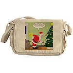 Santa and Stretching Messenger Bag