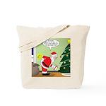 Santa and Stretching Tote Bag