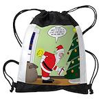 Santa and Stretching Drawstring Bag