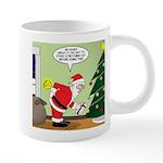 Santa and Stretching 20 oz Ceramic Mega Mug