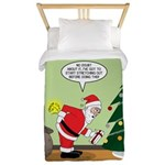 Santa and Stretching Twin Duvet Cover