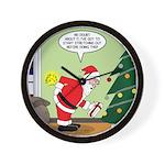 Santa and Stretching Wall Clock