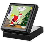 Santa and Stretching Keepsake Box