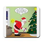 Santa and Stretching Mousepad