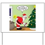 Santa and Stretching Yard Sign