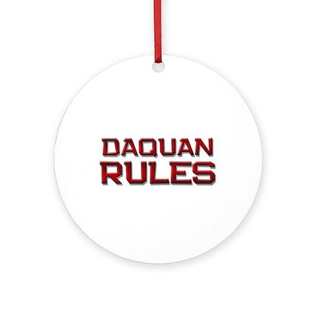 daquan rules Ornament (Round)