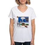 Yard Mixed-Size Nativity Women's V-Neck T-Shirt