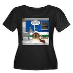 Yard Mix Women's Plus Size Scoop Neck Dark T-Shirt