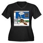 Yard Mixed-S Women's Plus Size V-Neck Dark T-Shirt
