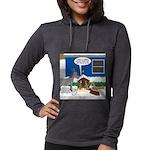 Yard Mixed-Size Nativity Womens Hooded Shirt