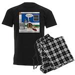 Yard Mixed-Size Nativity Men's Dark Pajamas