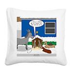 Yard Mixed-Size Nativity Square Canvas Pillow