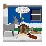 Yard Mixed-Size Nativity Tile Coaster