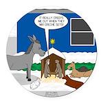 Yard Mixed-Size Nativity Round Car Magnet