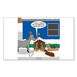 Yard Mixed-Size Nativity Sticker (Rectangle 10 pk)
