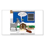 Yard Mixed-Size Nativity Sticker (Rectangle)