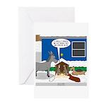 Yard Mixed-Size Nativity Greeting Cards (Pk of 10)