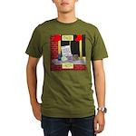 health nut santa Organic Men's T-Shirt (dark)