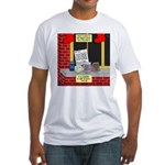 health nut santa Fitted T-Shirt