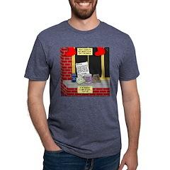 health nut santa Mens Tri-blend T-Shirt
