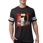 health nut santa Mens Football Shirt