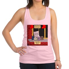 health nut santa Racerback Tank Top