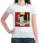 health nut santa Jr. Ringer T-Shirt