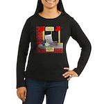 health nut santa Women's Long Sleeve Dark T-Shirt