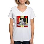 health nut santa Women's V-Neck T-Shirt