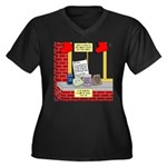 health nut s Women's Plus Size V-Neck Dark T-Shirt