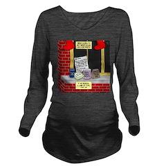 health nut santa Long Sleeve Maternity T-Shirt