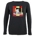 health nut santa Plus Size Long Sleeve Tee