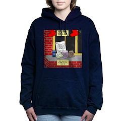 health nut santa Women's Hooded Sweatshirt