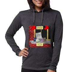health nut santa Womens Hooded Shirt